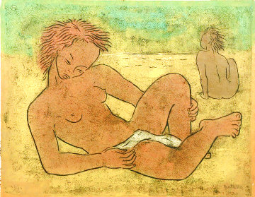 Two Figures Limited Edition Print - Angel Botello