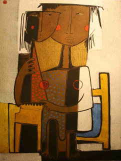Mother with Child 1980 Limited Edition Print - Angel Botello