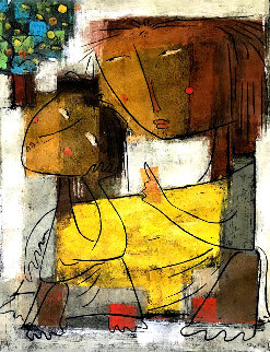 Mother and Child With Apples AP 1973 Limited Edition Print - Angel Botello