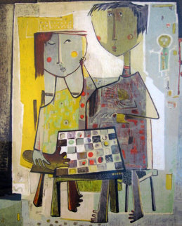 Chess Players Limited Edition Print - Angel Botello