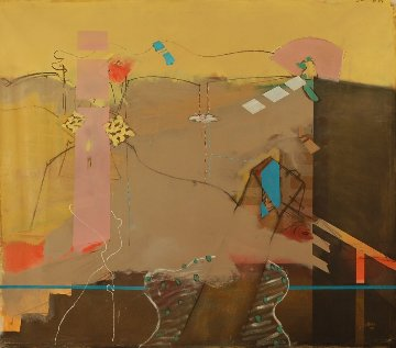 Following You 2006 56x66 Super Huge Original Painting - Daniel Bottero