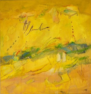 Mirando Al Espirit 2003 66x68 Original Painting - Daniel Bottero