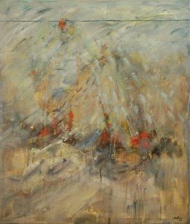 Mystical Birth 2005 56x66 Huge Original Painting - Daniel Bottero
