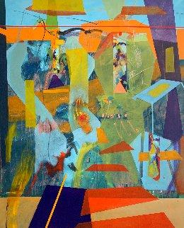 Encuentro Astral 2012 67x55 Super Huge Original Painting - Daniel Bottero