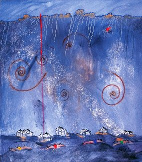 La Huella 2001 64x56 Original Painting - Daniel Bottero