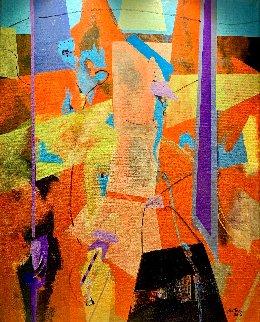 Conexión Alquímica III 2012 32x26 Original Painting - Daniel Bottero