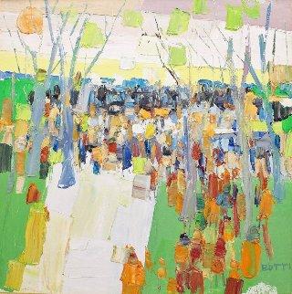 Gathering 1960 36x36 Original Painting - Italo Botti