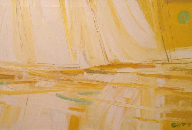 Untitled Painting  30x56 Original Painting by Italo Botti