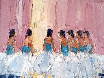 Balerinas 1950 18x22 Original Painting - Italo Botti