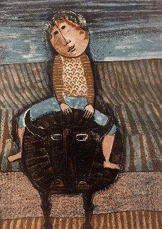 Enfant Sur Bufle Limited Edition Print - Graciela Rodo Boulanger