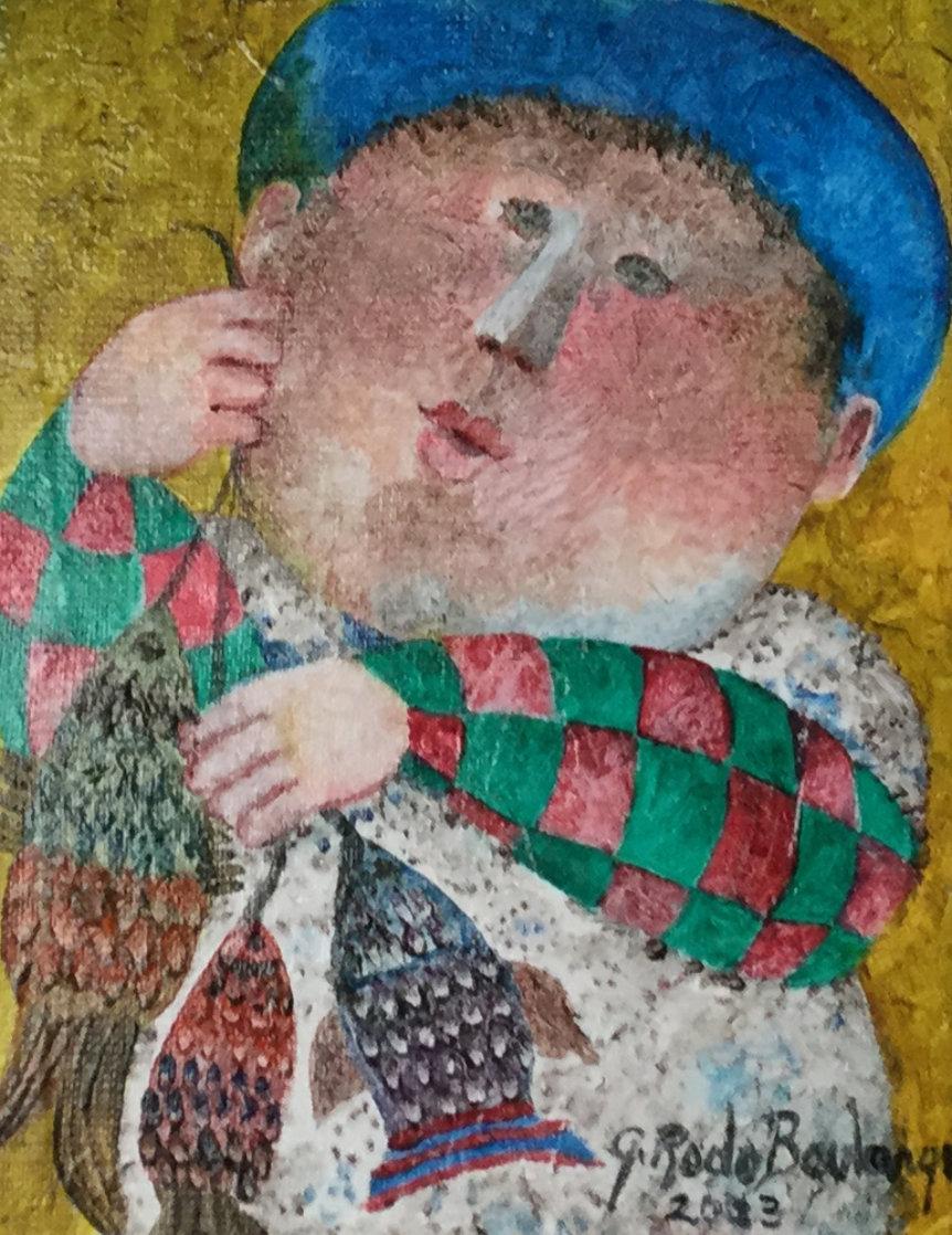 Pescados 2003 17x15 Original Painting by Graciela Rodo Boulanger
