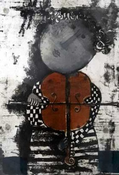 Le Violin 1975 Limited Edition Print by Graciela Rodo Boulanger