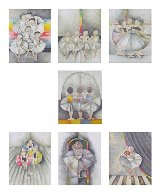 Les Petits Rats Suite of 7 1990 Limited Edition Print by Graciela Rodo Boulanger - 7