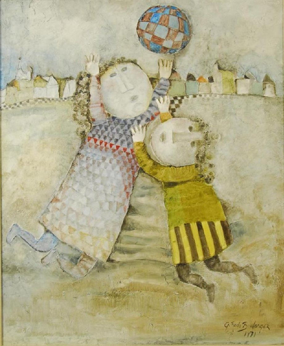 Jour D'hiver 1971 33x27 Original Painting by Graciela Rodo Boulanger