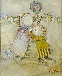 Jour D'hiver 1971 33x27 Original Painting - Graciela Rodo Boulanger