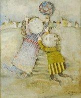 Jour D'hiver 1971 33x27 Original Painting by Graciela Rodo Boulanger - 0