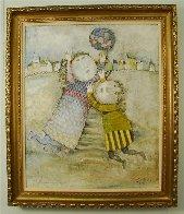 Jour D'hiver 1971 33x27 Original Painting by Graciela Rodo Boulanger - 2