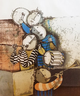 Four Musicians 1990 Limited Edition Print by Graciela Rodo Boulanger