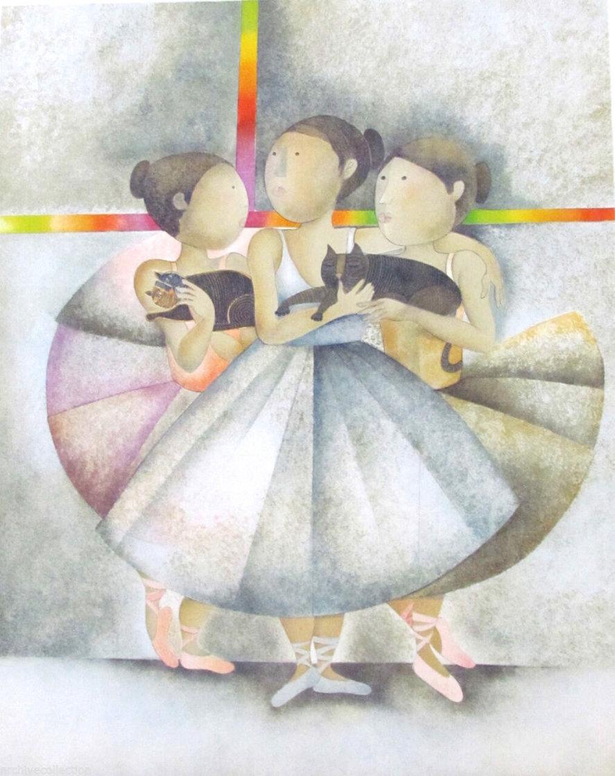 Les Petit Rats: Apres La Danse  Limited Edition Print by Graciela Rodo Boulanger