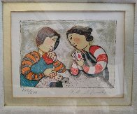 Untitled Portrait of Two Girls Playing Cards Limited Edition Print by Graciela Rodo Boulanger - 1