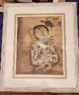 Boy With Bird 1970 Limited Edition Print by Graciela Rodo Boulanger - 1