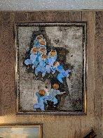 Hawaiian Little Leaguers 1974 49x39 Super Huge Original Painting by Graciela Rodo Boulanger - 1