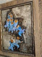 Hawaiian Little Leaguers 1974 49x39 Super Huge Original Painting by Graciela Rodo Boulanger - 2