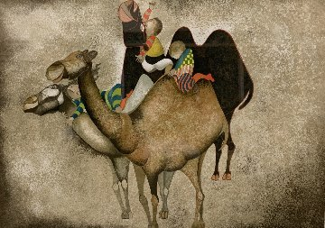 Three Camels From Animal Suite 1987 Limited Edition Print - Graciela Rodo Boulanger