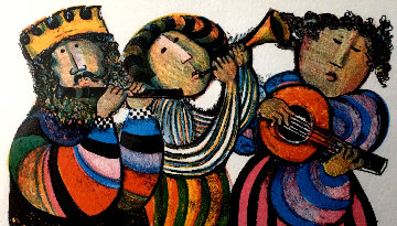 Three Musicians Limited Edition Print by Graciela Rodo Boulanger