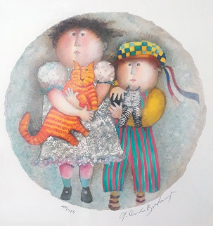 Deux Chat 2002 Limited Edition Print by Graciela Rodo Boulanger