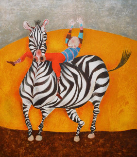Zebra Limited Edition Print by Graciela Rodo Boulanger