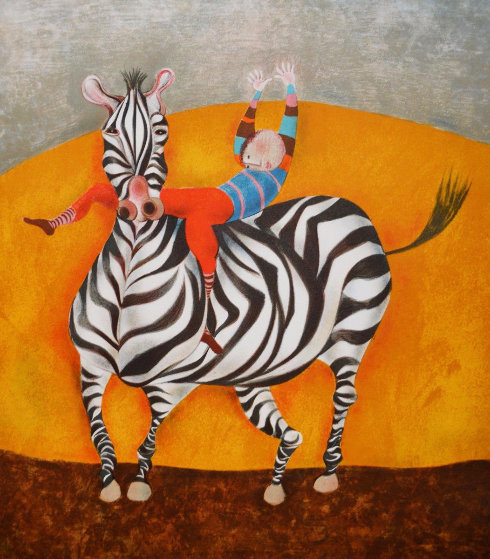 Zebra Limited Edition Print by Graciela Rodo Boulanger
