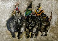 3 Rhinos 1980 Limited Edition Print by Graciela Rodo Boulanger - 0