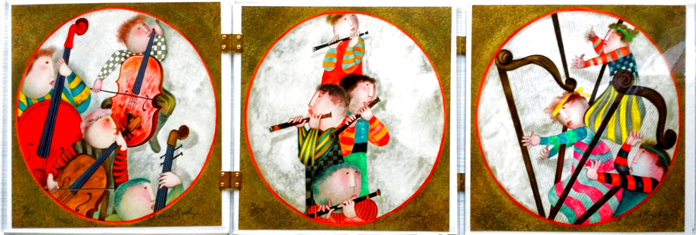 Suite of 6: Untitled Lithographs of Musicians 1987 Limited Edition Print by Graciela Rodo Boulanger