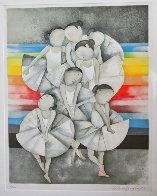 Les Petit Rats: Toutes Sur Scene Limited Edition Print by Graciela Rodo Boulanger - 2