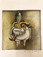 Boy Riding a Bull EA Limited Edition Print by Graciela Rodo Boulanger - 1