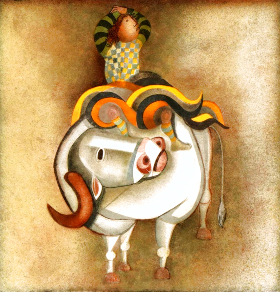 Boy Riding a Bull EA Limited Edition Print by Graciela Rodo Boulanger