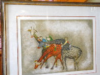 Giraffes 1980 Limited Edition Print by Graciela Rodo Boulanger - 2