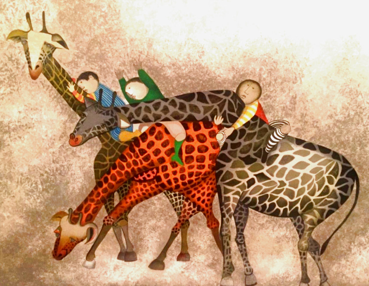 Giraffes 1980 Limited Edition Print by Graciela Rodo Boulanger