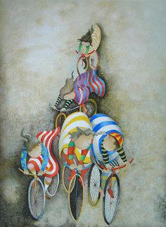 Promenade En Bicyclette 1980 Limited Edition Print - Graciela Rodo Boulanger