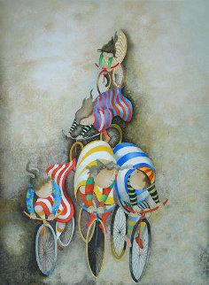 Promenade En Bicyclette 1980 Limited Edition Print by Graciela Rodo Boulanger
