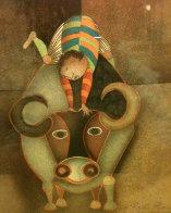Boy on Bull Limited Edition Print by Graciela Rodo Boulanger - 0