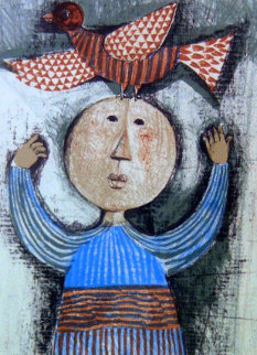 Woman With Bird Limited Edition Print by Graciela Rodo Boulanger