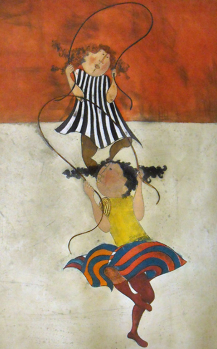 Two Girls Jumping Rope Limited Edition Print by Graciela Rodo Boulanger