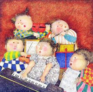 Concert Privee Limited Edition Print by Graciela Rodo Boulanger