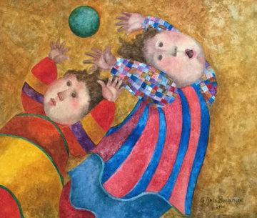 Air Libre 2000 32x29 Original Painting - Graciela Rodo Boulanger