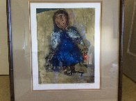 Girl With Two Bird Cages Limited Edition Print by Graciela Rodo Boulanger - 1