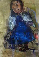 Girl With Two Bird Cages Limited Edition Print by Graciela Rodo Boulanger - 0