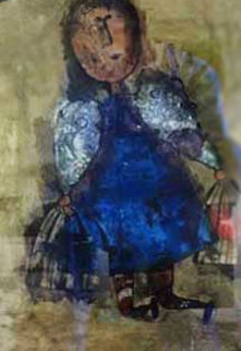 Girl With Two Bird Cages Limited Edition Print - Graciela Rodo Boulanger