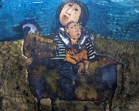 Mother and Child on a Bull 1960 (Early) Limited Edition Print by Graciela Rodo Boulanger - 0